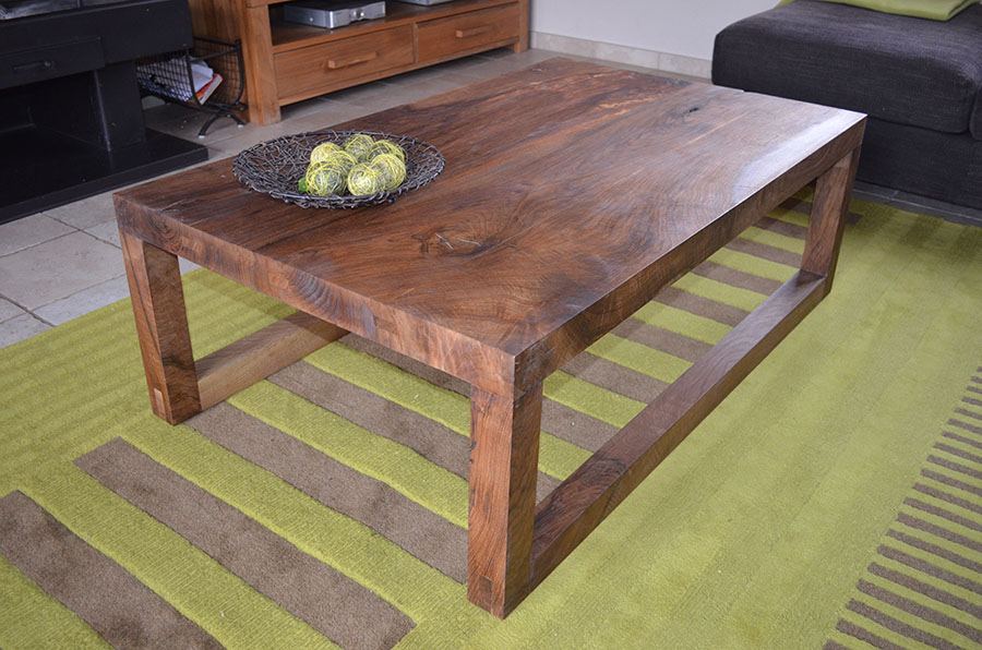 Mesas de dise o centro madera qhands for Centros de mesa de madera